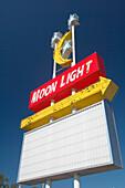 Illuminated advertising of a Restaurant in Titusville, Florida, USA