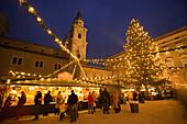 Christmas market at Residence Square, Salzburg, Austria