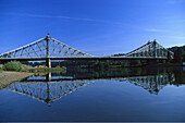 Loschwitz Bridge, Blue Wonder, Elba, Dresden, Saxony, Germany