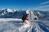Telemark Skiing,Skiing Region  Altaussee, Steiermark, Austria