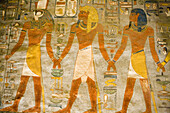 Hieroglyphics on Tomb Wall,Valley of the Kings, near Luxor, Egypt