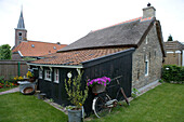 Quaint Cottage & Bicycle with Flowers,Earnewald, Frisian Lake District, Netherlands