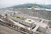 Three Gorges Dam Ship Locks, Sandouping, Yichang, Xiling Gorge, Yangtze River, China