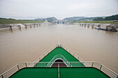 Approaching Three Gorges Dam Shiplock,Aboard MV Victoria Queen, Victoria Cruises, Sandouping, Yichang, Xiling Gorge, Yangtze River, China