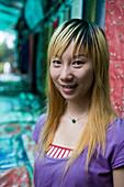 Hip Chinese Teenager,Yangtze River, Shibaozhai, China