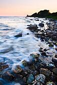 Coastline at sunset, Fehmarn Island, Schleswig-Holstein, Germany