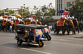 Buddhist Procession at Democracy Monument, Bangkok, Thailand