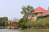 Part of the Vimanmek Teak Mansion, the world's largest golden teak building, Bangkok, Thailand