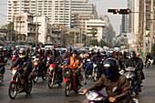 Traffic jam at Sukhumvit Road, Bangkok, Thailand
