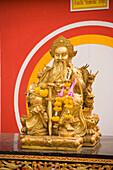 Gilded Buddhist statue, Wat Suthat, Bangkok, Thailand