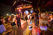 People dancing, band on stage in background, Reggae Pub, Chaweng Beach, Hat Chaweng Central, Ko Samui, Thailand