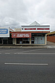 Empty street and a building of the Salvation Army, Kuranda, Queensland, Australia