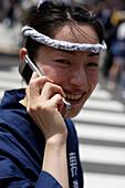 Kanda Festival,  Kanda  Matsuri, mid-May, about 100 omikoshi, portable shrines,  are paraded through  the streets around Asakusa  Shrine, Tokyo, Kanda,  Japan