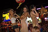Katoys dancing in a bar, Soi Crocodil, Patong Beach, Ao Patong, Hat Patong, Phuket, Thailand, after the tsunami