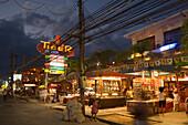 Souvenir shop at Bang-La Road in the evening, bar district, Patong Beach, Ao Patong, Hat Patong, Phuket, Thailand, after the tsunami