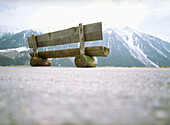 Bench in the mountains, Switzerland