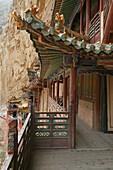 Exterior view of the hanging monastery, Heng Shan North, Shanxi province, China, Asia