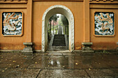 Entrance gate of the nunnery Huangting, Heng Shan South, Hunan province, China, Asia