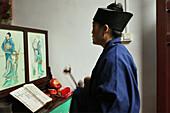 prayer ceremony, Nunnery Huangting, Heng Shan south, Hunan province, Hengshan, Mount Heng, China, Asia