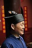 Portrait of a chinese nun, Nunnery Huanting, Heng Shan South, Hunan province, China, Asia