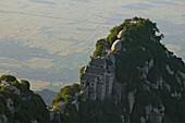 view to North Peak, Taoist mountain, Hua Shan, Shaanxi province, China, Asia
