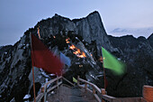 view from North Peak, Taoist mountain, Hua Shan, Shaanxi province, China, Asia