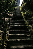 stone steps, pilgrim path, Huang Shan, Anhui province, World Heritage, UNESCO, China, Asia