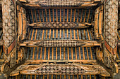Ancestral temple, Baolun Hall, Chengkan, timber roof construction, carving, in house beams, Hongcun, ancient village, living museum, China, Asia, World Heritage Site, UNESCO