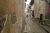 traditional narrow alley, in Chengkun, ancient village, living musem, China, Asia, World Heritage Site, UNESCO