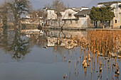 entrance to Hongcun is across one bridge, ancient village, living museum, China, Asia, World Heritage Site, UNESCO
