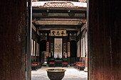 traditional courtyard of a merchants house, timber house in Hongcun, ancient village, living museum, China, Asia, World Heritage Site, UNESCO