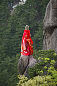 Decorated pinnacle at Guanyin Peak, Goddess of Mercy, Jiuhua Shan, Anhui province, China, Asia