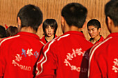 young girl at Kung Fu training, school near Shaolin, Song Shan, Henan province, China, Asia