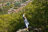 Shi Yanwen, Kung Fu master, near Shaolin, Song Shan, Henan province, China, Asia