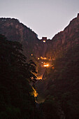steep climb at night, Stairway to Heaven, to arrive for sunrise, Tai Shan, Shandong province, Taishan, Mount Tai, China, Asia, World Heritage, UNESCO
