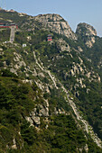 steep climb, Stairway to Heaven, Tai Shan, Shandong province, Taishan, Mount Tai, China, Asia, World Heritage, UNESCO
