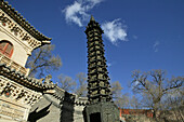13 storey bronze Pagoda, Copper Palace, Xian Tong Temple, Monastery, Wutai Shan, Five Terrace Mountain, Buddhist Centre, town of Taihuai, Shanxi province, China, Asia