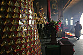 Thousand Buddhas, offerings in Xiantong Temple, Northern Terrace, Wutai Shan, Five Terrace Mountain, Buddhist Centre, town of Taihuai, Shanxi province, China
