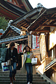 Japanese tourists at Chion-in Temple, Kyoto, Japan