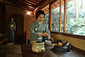 Japanese tea ceremony, Happo-en Garden, Tokyo, Japan