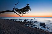 Sea Shore at dusk, Jasmund National Park, Rugen Island, Mecklenburg Western Pommerania, Germany