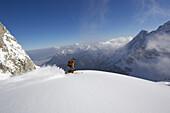 Telemark Skier, Dammkar, Mittenwald, Bavaria, Germany