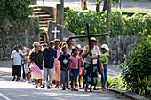 Palm Sunday Procession,Victoria, Mahe Island, Seychelles