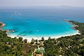 Aerial Photo of Anse Lazio,Chevalier Bay, Praslin Island, Seychelles