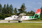 Air Seychelles DHC-6 Twin Otter Airplane,Praslin Airport, Praslin Island, Seychelles