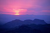 Sierra de Santa Elena Mountains at Sunset, view from Sotol Vista Overlook, Big Bend National Park, Texas, USA