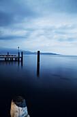 Panoramic view of Lake Grada, Italia