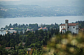View over Lake Garda, Gardone Riviera, Lombardy, Italia