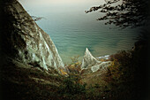 Chalk cliffs, Jasmund National Park, Ruegen, Mecklenburg-Western Pomerania, Germany