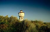 Water Tower and dunes, island Langeoog, East Friesland, Lower Saxony, Germany